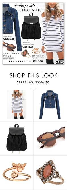 """Denim Trend: Jean Jackets"" by dressedbyrose ❤ liked on Polyvore featuring Alex and Ani, Dorothy Perkins, jeanjackets, yoins, yoinscollection and loveyoins"