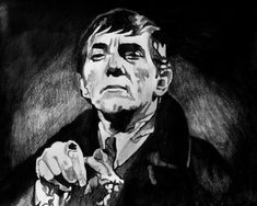 Barnabas Collins Dark Shadows Jonathan Frid Gothic Soap Opera Vampire Drawing - Barnabas Collins by Jeremy Moore