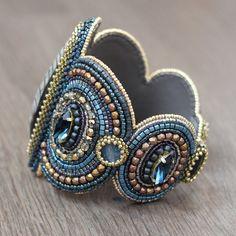 Bracelet Cuff Bead Embroidery beadwork beaded by NatashaBiser