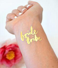 Bachelorette flash tattoos, bachelorette pary favors, Bride tribe tattoo by Daydream Prints http://etsy.me/1hGFDFp