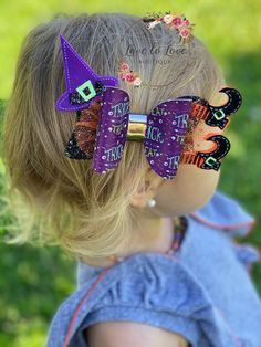 Halloween Hair Bows, Baby Halloween, Witch Hair, Mouse Silhouette, Little Girl Hairstyles, Creative Crafts, Baby Headbands, Hair Accessories, Hair Styles