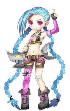 Chibi Jinx Fanart - league of legends