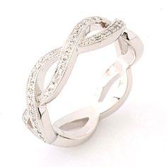 infinity symbol wedding invitations   Infinity Wedding Bands on Infinity Diamond Eternity Band Bev K 625 ...