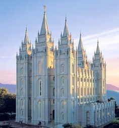 A beautiful Temple of the Church of Jesus Christ of Latter Day Saints, In Salt Lake City, Utah