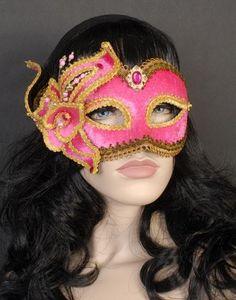 Pink Velvet Masquerade Mask