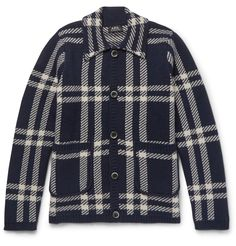 <a href='http://www.mrporter.com/mens/Designers/APC'>A.P.C.</a>'s chunky wool cardigan has all the rugged appeal of lumberjack style. Perfect for…