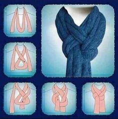 Scarf knot.  A cool way to wear a scarf!
