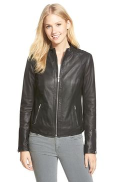 LaMarque Leather & Ponte Biker Jacket available at #Nordstrom