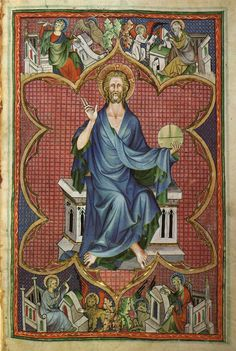 Psalter de lisle 14th century christ enthroned christ in majesty