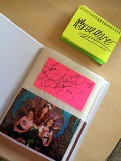 Disney World character autograph ideas Tear perforations on index cards and put in album with photo!