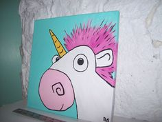 he's so fluffy! inspired by the unicorn from Despicable Me.