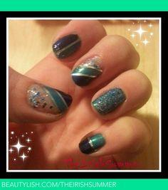 shiny Christmas nails