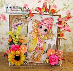Something Beautiful By Julie: Sping Card Fiddle Dee Bee Bestie SSS