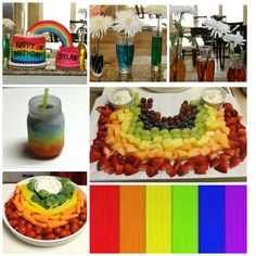 rainbow party collage