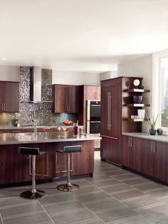 traditional medium woodcherry kitchen cabinets 05 like the counter colour too kitchen reno ideas pinterest cherry