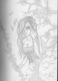Forest Girl - Drawing