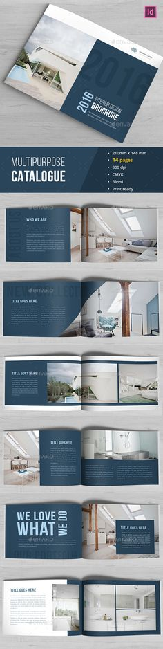 Indesign Portfolio Catalogue Design Template - Catalogs Brochure Template InDesign INDD. Download here: https://graphicriver.net/item/indesign-portfolio-catalogue/17033561?s_rank=235&ref=yinkira