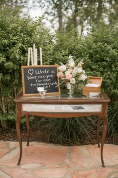 love recipe with recipe box // photo by Mustard Seed Photography // View more: http://ruffledblog.com/english-garden-inspired-wedding/