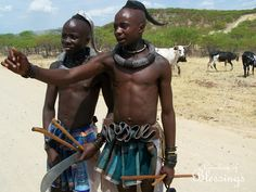 Himba tribesmen from Northern Namibia. BelAfrique your personal travel planner - www.BelAfrique.com