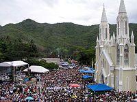 Procesion de la Virgen Del Valle en Margarita Isla Venezuela