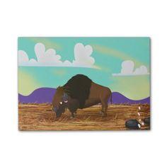 Cartoon Buffalo on the Farm Post-it® Notes