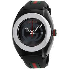 Gucci Sync Black Silicone Strap Unisex Watch YA137101