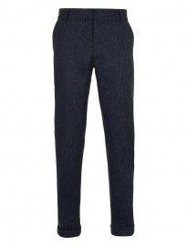 Topman Blue Flecked Herringbone Suit Trousers
