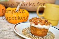 Scissors and Spice: Give Thanks for Vegan Pumpkin Spiced Cupcakes!