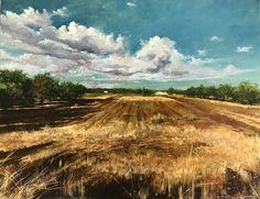"""Tempo della mietitura"", oil on canvas, 45x35 cm.   From a photo of @fedefphoto 👋  .  .  .  #interiors #interiordecor #gallery #artgallery #artlover #paysage #artist #artnews #arty #artlover #artlovers #igerslecce #cartolinesalentine #paintanyway #buyart #dailyart #artistsoninstagram #artdaily #pittura #dipinto #oliosutela #paesaggio #weareinpuglia #southitaly #sunny #trees #field"