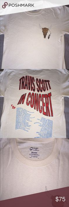 Travis Scott Tour Merch Travis Scott Anti Tour Shirt. Size Small. Brand new and never worn. Got directly from the show. Very hard to find unless you went to the show. Travis Scott  Tops Tees - Short Sleeve