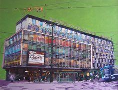 """""""Zenit"""" acrylic on wood 100x70, Kattowitz by Lukas LL, via Behance #katowice #art #painting #sztuka #malarstwo #silesia"""