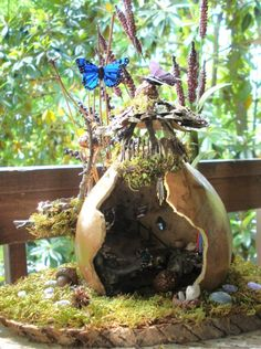 Woodland fairy house outpost