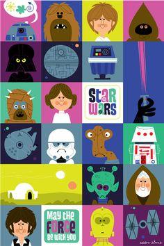 Star Wars on Behance... Aka: what looks like Star Wars kid art! I LOVE it!
