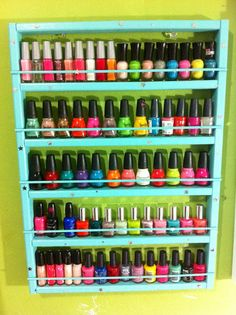 I would loveeeee this!!  Any color decorated nail polish rack by NAILxPOLISHxLOVERSS