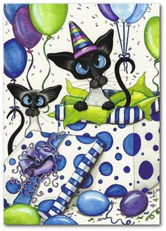 Hand Painted Original Painting Siamese by DreamCatchingStudio