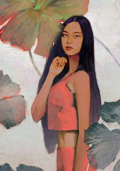 Tu recepcja - Digital painting by hoooook Digital Art Girl, Digital Portrait, Portrait Art, Poses References, Portrait Illustration, Character Illustration, Art Plastique, Looks Cool, Figure Painting