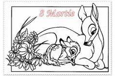 Imagini pentru FELICITARI PT MAMA Bambi Disney, Disney Pixar, Art Disney, Film Disney, Elsa Coloring Pages, Horse Coloring Pages, Coloring Pages To Print, Printable Coloring Pages, Coloring Pages For Kids