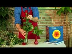 michael gaffney floral design | How to Decorate a Long Stem Rose in a Vase : Floral Design - YouTube