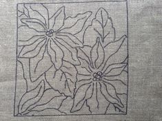 Poinsettia Rug Hooking Pattern 12 X