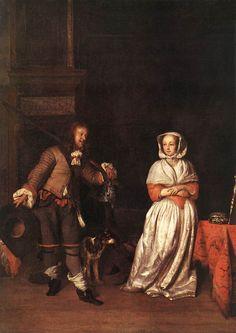 Gabriël Metsu - The Hunter and a Woman - WGA15081 - Gabriel Metsu — Wikipédia