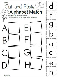 Preschool alphabet worksheets and coloring pages help your little one master all the letters of the alphabet. Check out our preschool alphabet printables. Letter Worksheets For Preschool, Matching Worksheets, Free Kindergarten Worksheets, Preschool Letters, Letter Activities, Free Preschool, Learning Letters, Preschool Learning Activities, Abc Worksheets