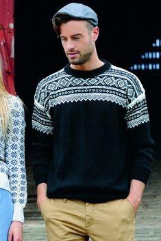 Marius i Mini Alpakka Nordic Sweater, Men Sweater, Men's Knitwear, My Outfit, Runway Fashion, Crocheting, Knit Crochet, Winter Fashion, Street Style