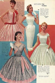 1950s fashions from Lana Lobell's catalogue in the 50's.#50sdresses #50sfashion #1950s