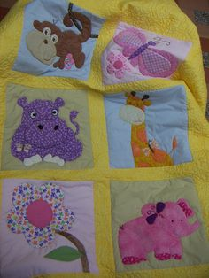 Cubrelecho para cuarto de bebe Arts And Crafts, Diy Crafts, Baby Quilts, Quilt Blocks, Quilt Patterns, Baby Kids, Sewing Projects, Patches, Kids Rugs
