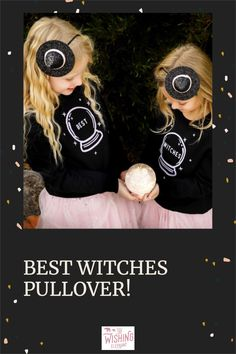 The cutest glow in the dark printed pullovers for your sweet bestie babes! #bff #bestwitches #halloween #bestieoutfits Fun Halloween Games, Pink Halloween, Halloween Party Costumes, Play Clothing, Girl Gang, Simple Designs, Bff, Round Sunglasses, Kids Outfits