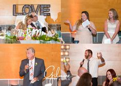 The Toasts | Mr. & Mrs., bride & groom, just married, father of the bride, best man, maid of honor, bridesmaids, groomsmen, love, happy couple, wedding reception, indoor venue, white wedding dress, gray suit, lace, blush, cream, Newport Beach, Orange County, Southern California, wedding photographer | Gilmore Studios | gilmorestudios.com