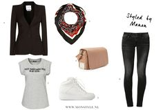 Casual tee with a chic blazer outfit - Style by Manon