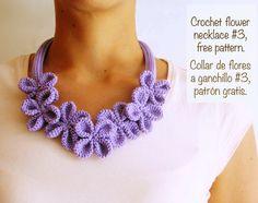 Crochet flower necklace                                                                                                                                                     More