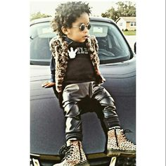 kids fashion baby swag leaopard leather boots cool baby outfits