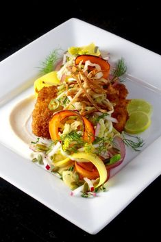To The Fish Taco - Panko Crusted Halibut, Cabbage, Fennel, Carrot Slaw ...